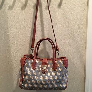 Dooney and Bourke denim and leather handbag